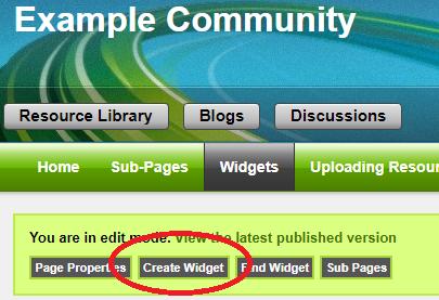 Widgets - Example Community